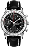 Breitling Navitimer 1 Chronograph 41 Steel Men's Watch on Black Leather Strap A13324121B1X1