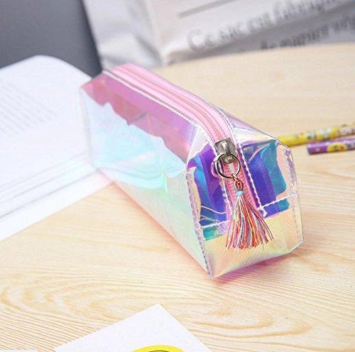 Mytobang 1pz matita della borsa New Fashion olografico laser grande trasparente colore solido...