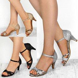 a96bc311bc0edd Fashion Thirsty Sandales à Petits Talons – à Bride/Bouts Ouverts – Mariage/ Fête – Femme | Tout en promos