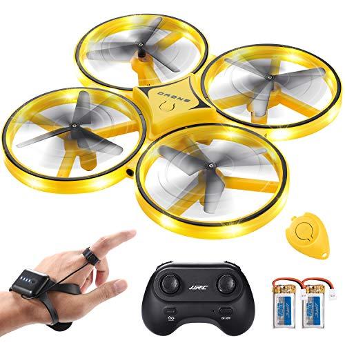 SGILE RC Drone con LED, con Controllo del Gesto/Rotazione a 360 Gradi/Lancia per Volare, con Luce...