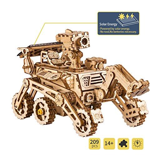 Robotime Solar Powered STEM Toys - Taglio Laser Kit Modello di Auto Robot Fai da Te - Puzzle in...