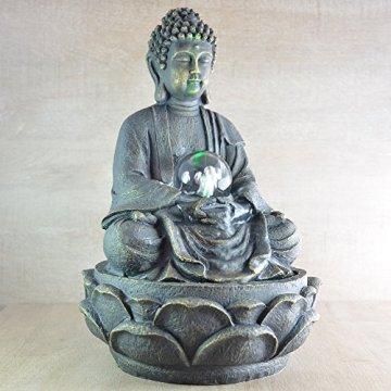 Zen Luz SCFR 8G Buddha Fuente Meditación Gran Interior Marrón Oscuro/Chocolate 21 x 21 x 30 cm 9