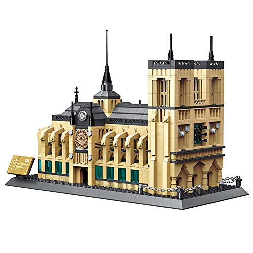 cokeymove Notre Dame Building Blocks Assembling Toys, Children's Educational Puzzles DIY Handicrafts...