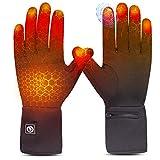 Sun Will elektrische beheizte Handschuhe für Herren Damen,wiederaufladbar beheizbare Winter Handschuhe für Outdoor Fahrrad Motorad Ski Snowdoard Jagd