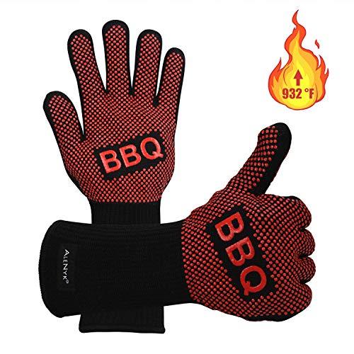 Guanti Barbecue,Guanti, Forno BBQ Resistenza Calore Superiore a 500°C Grigliare Arrostire in...