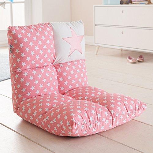 howa 2 in 1 poltrona + divano per bambini - schienale regolabile in 6 posizioni - rosa 8601