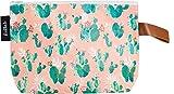 Estuche Cactus Para Mujer Naranja Suave y Verde