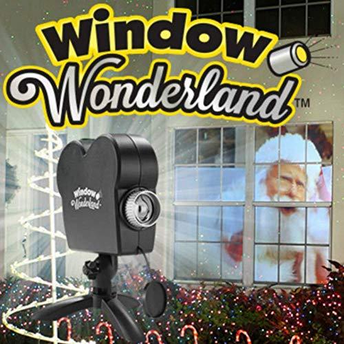 HRTC Halloween Weihnachten Fenster Projektor Doppel Projektor-Star Dusche Wunderland Animierte