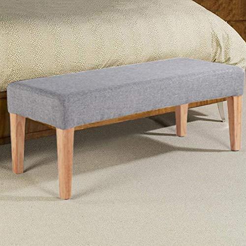 Sgabelli CJC Scarpe in Legno Massiccio Modifica Tavolino Basso Divano Piccola Sedia Domestica Bed Fine (Color : Gray, Size : 100cm)