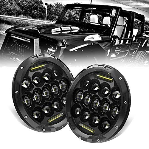 KEENAXIS 17,8 cm Rotondo Nero Hi/Lo Fascio Faro LED Anteriore con luci diurne (DRL) Jeep Wrangler...