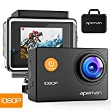 APEMAN Sports Action Camera 12MP Full HD 1080p Action Cam Wasserdichte Action Kamera Helmkamera mit Transporttasche und Zubehör Kit