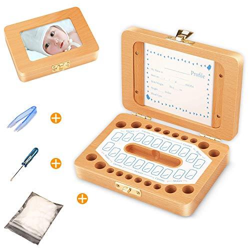 Sparta\'s Store Milchzähne Box,Zahnbox Zahndose Milchzahndose,Zahndöschen für Kinder,milchzahn box,100{7bd26d136ea6cf383e627dd414a9f16e720b2d2e91b363fdc5dcc9f250cf1a35} handgefertigt mit Holz [Englisch Version]
