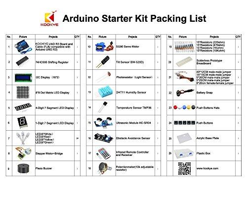 51%2BTMftk4IL - Kit de aprendizaje para programar KOOKYE para Arduino, Raspberry Pi none UNO R3 Starter kit for Arduino