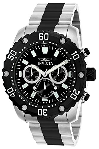 Invicta 22521 Pro Diver Herren Uhr Edelstahl Quarz schwarzen Zifferblat