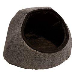 katzeninfo24.de Rosewood 04380 Tweed-Katzenhöhle, grau, Länge: 46cm