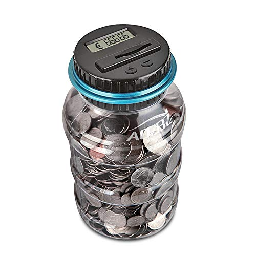 AOZBZ Digitale Salvadanaio Euro Counter, Automatico Coin Counting Soldi Scatola per i Bambini e...