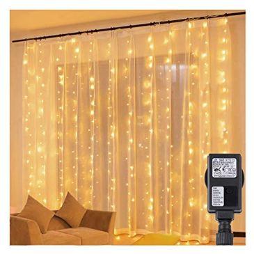 Speclux LED Guirlande Lumineuses Rideau, 3m x 3m 300 LED Lumières Décoratives