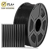 Enotepad PLA Plus 3D Printer Filament, 1.75mm Filament,Dimensional Accuracy +/- 0.02mm,Soft & Non-toxic Material, Enotepad PLA+ (1KG PLA+ 1.75mm Black)