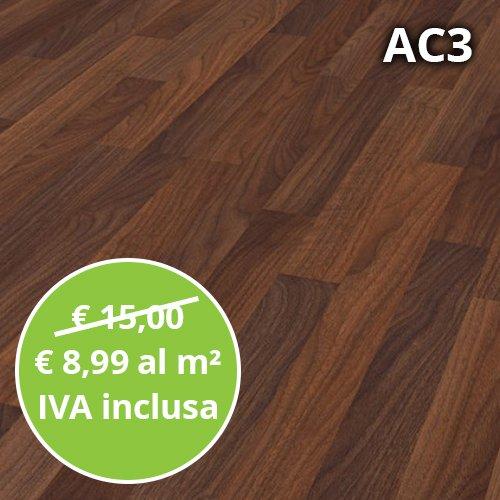 Pavimento in Laminato Noce Astoria Confezione Da 2.47 Mq   AC3