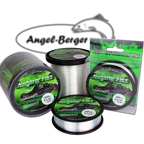 Angel Berger Alligator Flex Ghost Angelschnur verschiedene Stärken und Längen (0.40mm / 300m)