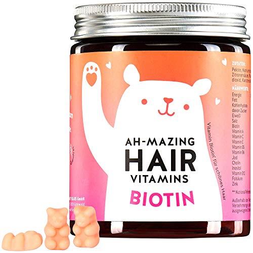 Biotin 10.000 mcg Gummibärchen - Haar Vitamine für Haut, Haare, Nägel - Bears with Benefits AH-MAZING HAIR Vitamin Gummies - Vitamin H - natürlich, vegan, hochdosiert
