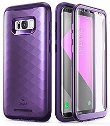 Kaufen Clayco Galaxy S8+ Plus Hülle, [Hera] Handyhülle Ganzkörper Case Robuste Schutzhülle mit eingebautem Displayschutz für Samsung Galaxy S8+ Plus (2017 Version), Lila