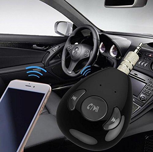 MPTECK @ Ricevitore Bluetooth portatile Musica Ricevitore Audio Stereo Adattatore Portatile audio stereo dell'automobile del veicolo adattatore con 3,5 mm Aux per iphone X 8 Samsung S9 S8