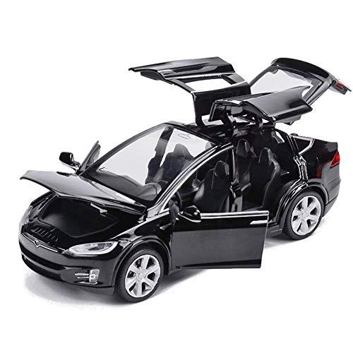 EisEyen Tesla Model X 901: 32Vehículo aleación tensar Juguete Auto con Sound & Light Toy Kids Puertas Abrir