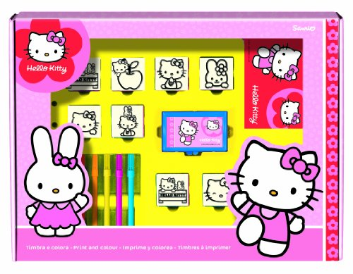 Multiprint Hello Kitty Timbro di Gomma Big Box (Set di 12)