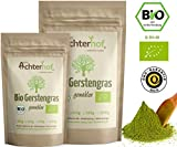 Gerstengras Pulver BIO (1kg) | Rohkostqualität | 100% Gerstengraspulver | Rückstandskontrolliert | vom-Achterhof