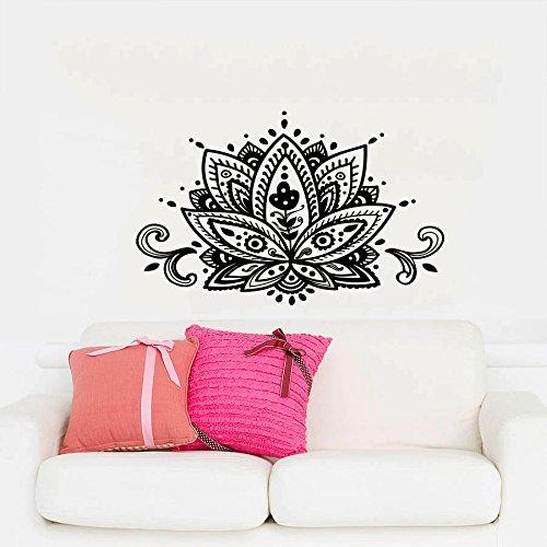 Adhesivos flor de loto de pared), diseño de mandala indio geométrico patrón de marroquí Yoga Namaste Flores vinilo para pared de dormitorio decoración murales adhesivo para pared