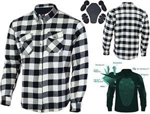 Motorrad-Langarmhemd aus modernstem Baumwollflanell im Holzfäller-Look, mit DuPontTM Kevlar® Aramitfaser-Innenfutter 4