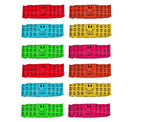 Baal Navratri Gifts Ideas Combo of 12 Pcs Bright Color Multipurpose Smiley Printed Pen Pencil Pouch Case Navratri Gifts Items for Kanjak, Navratri Gifts for Girls, , Multicolor, 45 Grams, Pack of 1