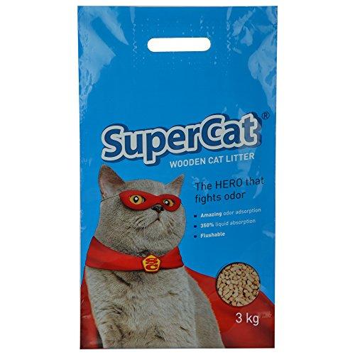 SuperCat Wooden Organic Cat Litter (3 Kg)