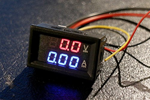 DC 30V 10a voltmetro amperometro Blue + Red LED Amp Dual Digital Volt Meter Gauge for Arduino, 3d printer, Raspberry Pi