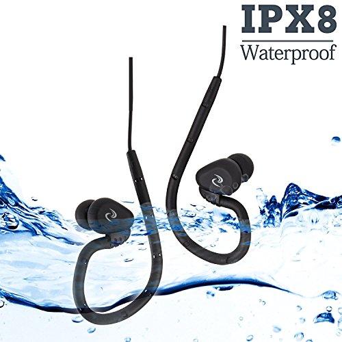 100% Impermeable natación Auriculares (Auriculares) -Short Cable, con 3 Tipo Auriculares para Tipo de Deportes (P.S: sólo Impermeable Auriculares sin Reproductor de mp3) … (Felix)