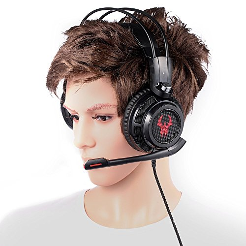 EasyAcc Cuffie Gaming Canale Stereo Suono Surround Virtual 7.1 Over-Ear  Headset con Microfono Flessibile ... 43ee63416d12