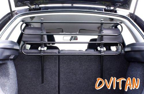 OVITAN Hundegitter fürs Auto 4 Streben universal zur Befestigung an den Kopfstützen der Rücksitzbank - für alle Automarken geeignet – Modell: H04