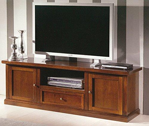 Giò Luxury Mobile Porta Tv, Stile Classico, In Legno Massello E Mdf Con Rifinitura In Noce Lucido -...