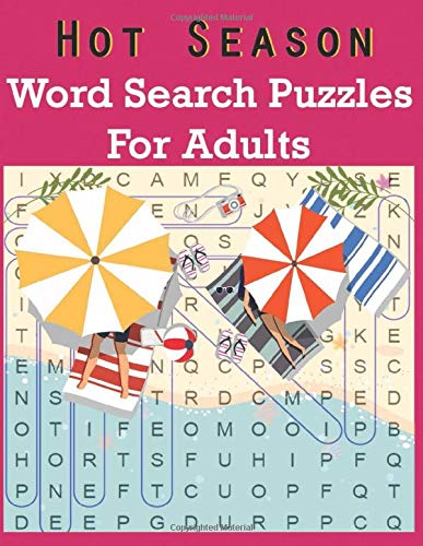 Hot Season Word Search Puzzles For Adults: Large Print Word Search Book Holiday