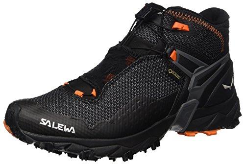 SALEWA Ultra Flex Mid Gore-Tex, Scarpe da Arrampicata Alta Uomo, Multicolore (Black/holland), 42 EU