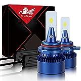 Win Power HIR2 / 9012 Led Faro Lampadina Kit di sostituzione 6000K Xeno bianca Super luminoso Lampada 12V Auto/moto Kit di aggiornamento Fendinebbia, 2 pezzi