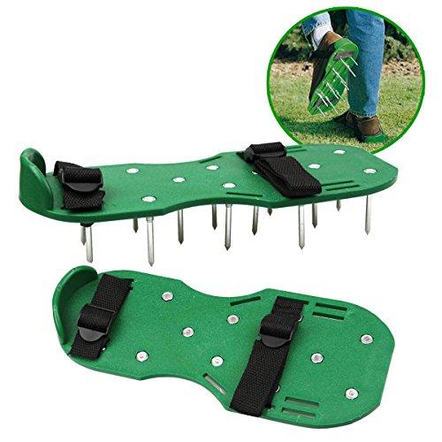 Zapatos de aireador de césped Jardín Spikes Sandalias con hebillas de nylon y 2 correas para airear su césped o patio