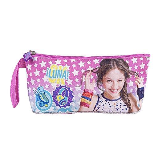 Astuccio Scuola Disney Soy Luna Rosa Fucsia - Porta Penne Matite Biro con Stelle e Stickers -...