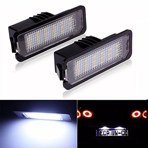LITTOU 2 x lampadine 18 LED SMD Luci targa CanBus error free per golf 4 5 6 7, polo