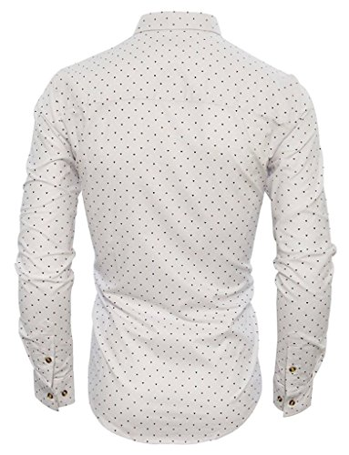 Romano Men's Full Sleeve Casual White Shirt