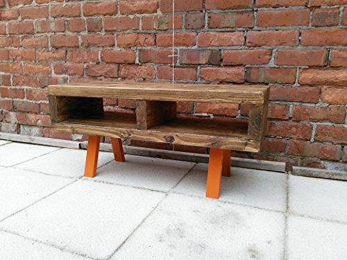 Red cottage Porta TV in stile contemporaneo rustico industriale porta TV o tavolino 90cm Funky...