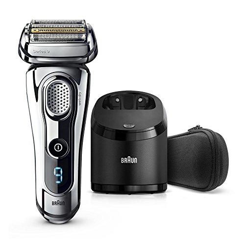 Braun Series 9 9295 cc Rasoir Électrique Technologie Wet&Dry et Système Clean&Charge - Chrome Premium