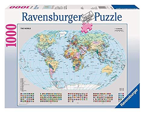 Ravensburger Italy Rav Pzl 1000 Pz Mappamondo Politico 15652, Multicolore, 878308