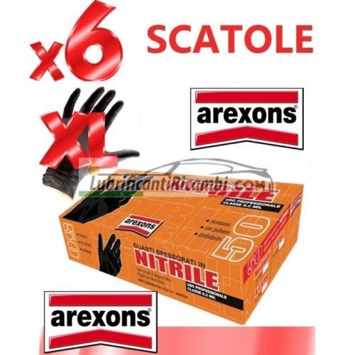 GUANTI SPESSORATI IN NITRILE AREXONS 6 CONF.300pz. tg.XL CLASSE 8.0 MIL -Offerta